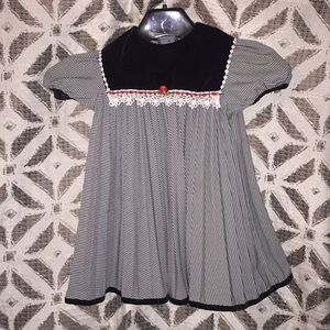 4t gorgeous black and white dress